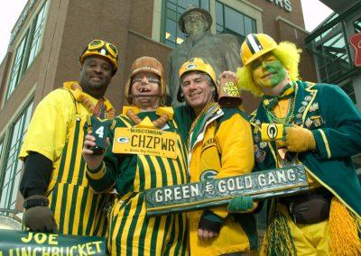 Green & Gold Gang Packer Fans
