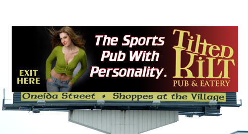Tilted Kilt Proposed Billboard