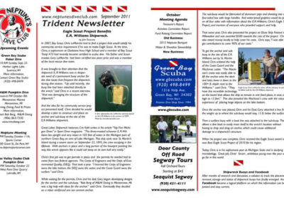 Trident Newsletter layout & design