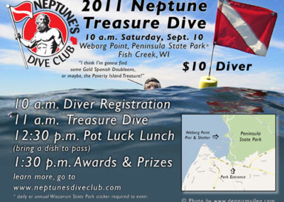 Neptune's Dive Club Treasure Dive Poster