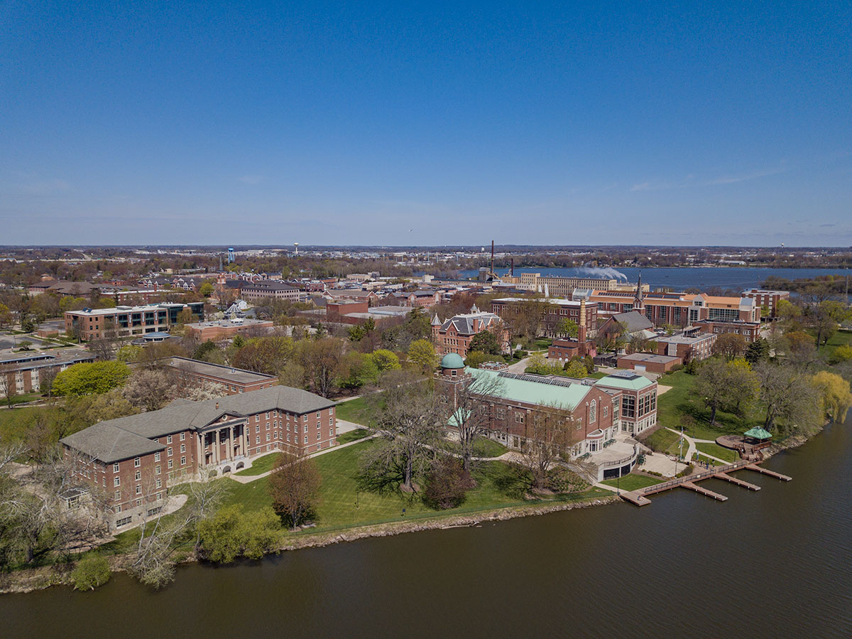 Saint Norbert College Campus drone photo