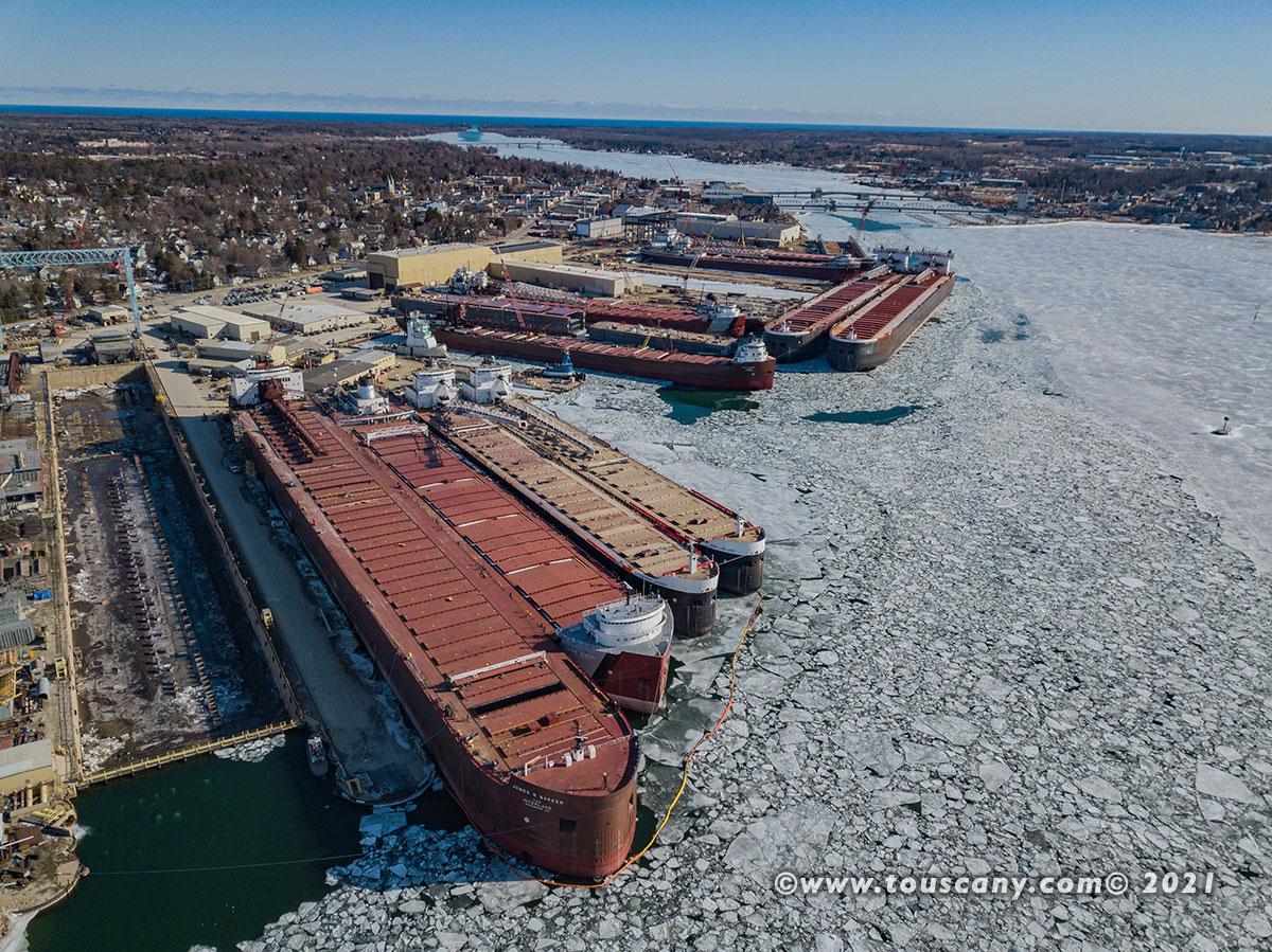 Bay Ship Building winter lay up winter 2021, Sturgeon Bay, WI photo