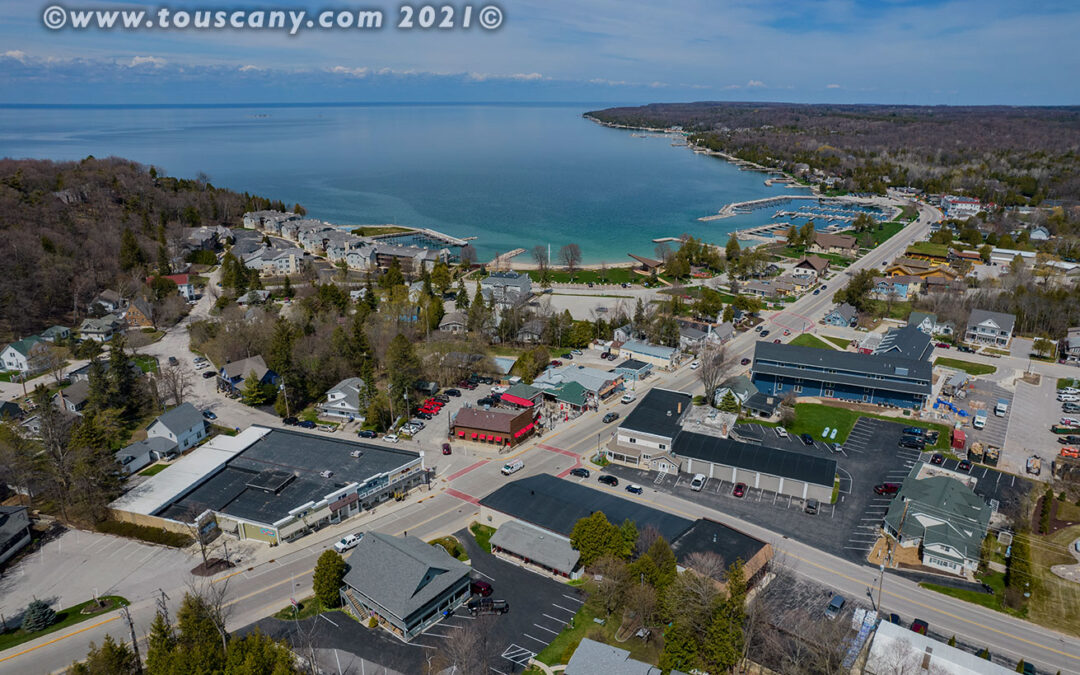 Sister Bay from the Air