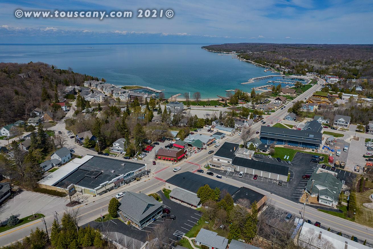 Sister Bay, WI aerial photo