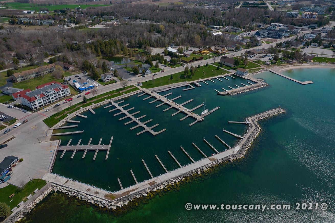 Sister Bay Marina, WI aerial photo